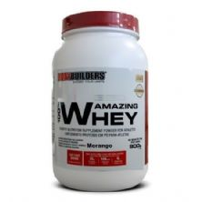 100% Amazing Whey - 900g Morango - BodyBuilders*** Data Venc. 30/05/2019