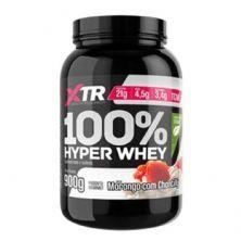 100% Hyper Whey Com Stevia - 900g Morango c/ Chantilly- XTR