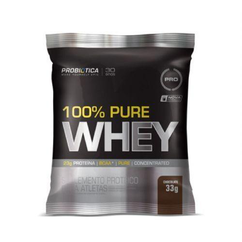 100% Pure Whey - 1 Sachê 33g Chocolate - Probiotica no Atacado