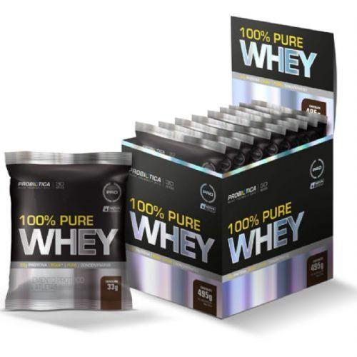 100% Pure Whey - 15 Sachês 33g Chocolate - Probiótica no Atacado