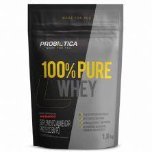 100% Pure Whey - 1800g Refil Morango - Probiotica
