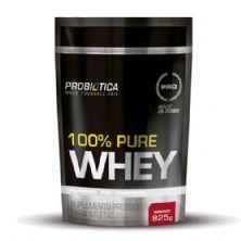 100% Pure Whey - 825g Refil Morango - Probiotica