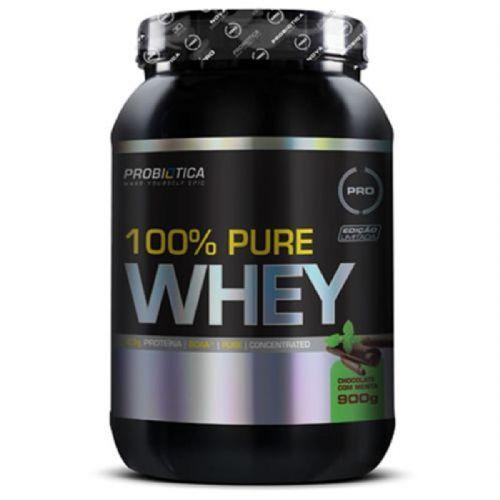 100% Pure Whey - 900g Chocolate C/ Menta - Probiótica no Atacado