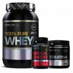 100% Pure Whey - 900g Chocolate + Creatina 300g + BCAA 60 Tabletes - Probiótica no Atacado