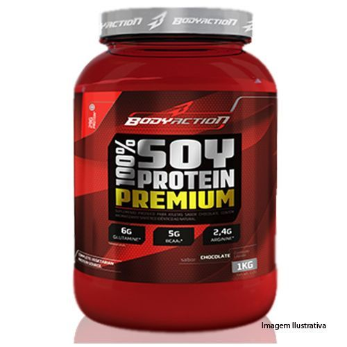 100% Soy Protein Premium - 1Kg Sabor Chocolate - BodyAction