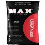 100% Whey - 2000g Morango - Max Titanium