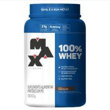 100% Whey - 900g Chocolate - Max Titanium