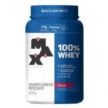 100% Whey - 900g Morango - Max Titanium
