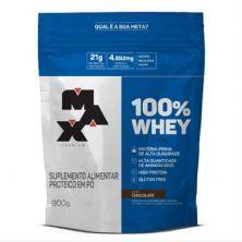 100% Whey - 900g Refil Chocolate - Max Titanium