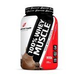 100% Whey Muscle - 900g Chocolate - BodyAction no Atacado