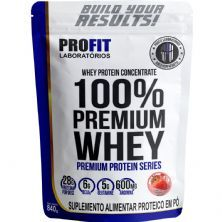 100%Whey Premium - 840g Refil Morango - Profit Laboratórios