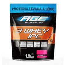 3 Whey IPC AGE - 1800g Refil Morango Pouch  - Nutrilatina