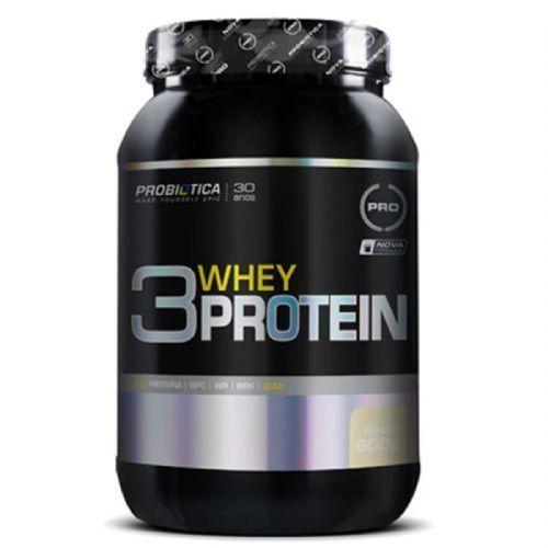 3 Whey Protein Nova formula - 900g Baunilha - Probiótica no Atacado