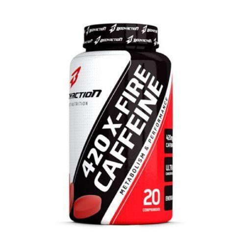 420 X-Fire Caffeine - 20 Comprimidos - BodyAction no Atacado