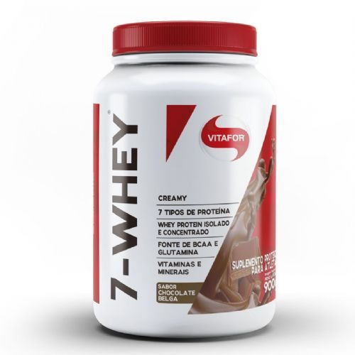7 Whey Creamy - 900g Chocolate Belga - Vitafor no Atacado