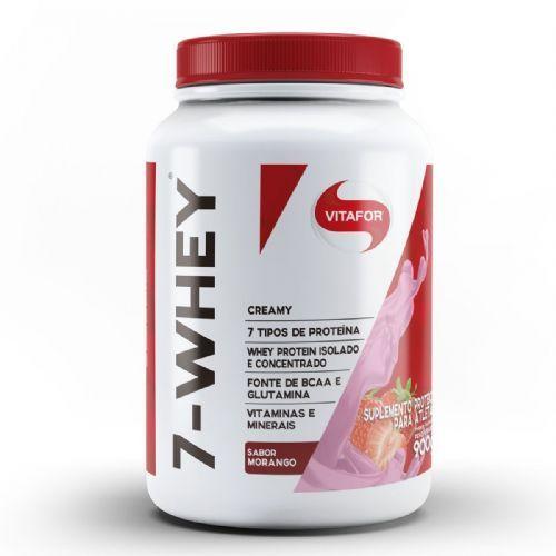 7 Whey Creamy - 900g Morango - Vitafor no Atacado