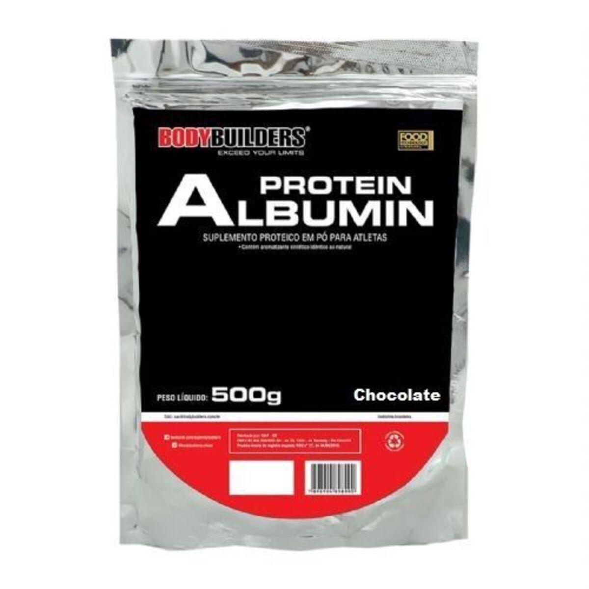 Albumin Proteins - 500g Refil Chocolate - BodyBuilders*** Data Venc. 30/01/2020