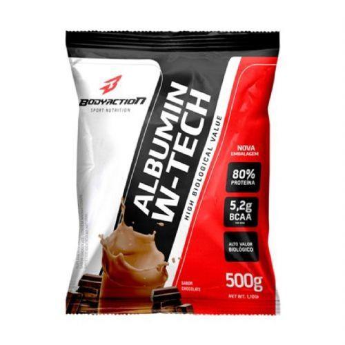 Albumin W-Tech - 500g Refil Chocolate - BodyAction no Atacado