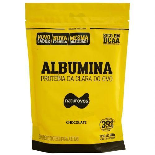 Albumina - 500g Refil Chocolate - Naturovos no Atacado