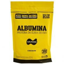 Albumina - 500g Refil Chocolate - Naturovos*** AVARIA EMBALAGEM *** Data Venc. 31/12/22