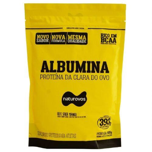 Albumina - 500g Refil Morango - Naturovos no Atacado