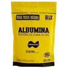Albumina - 500g Refil Morango - Naturovos*** AVARIA EMBALAGEM *** Data Venc. 31/12/22