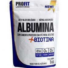 Albumina + Biotina Refil Stand-Up  - 1000g Natural - ProFit