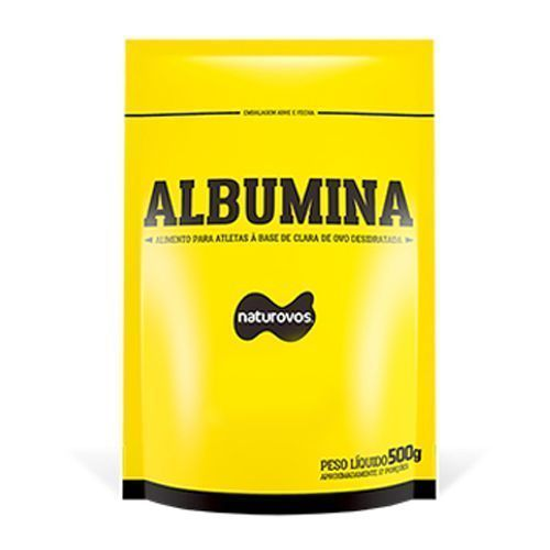 Albumina Refil - 500g Morango - Naturovos