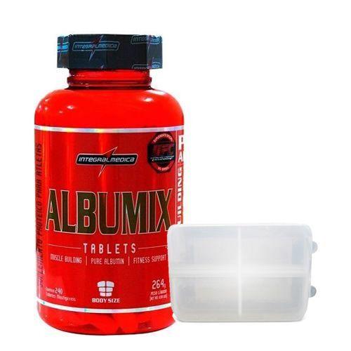 Albumix - 120 tabletes + Porta cápsulas- Integralmédica