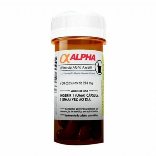 Alpha Axcell Cafeina - 30 Cápsulas - Power Supplements no Atacado
