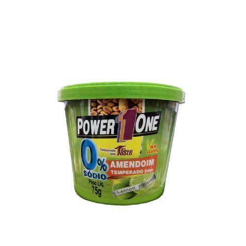 Amendoim Temperado Zero Sódio - Lemon 75g - Power One
