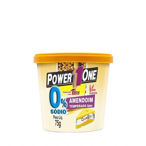 Amendoim Temperado Zero Sódio - Queijo 75g - Power One