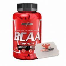 Amino BCAA TOP 4:1:1 - 120 cápsulas + Porta cápsulas - Integralmédica