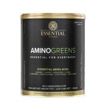 Amino Greens Vegan - 240g Suco Verde e Limão Yuzu - Essential Nutrition