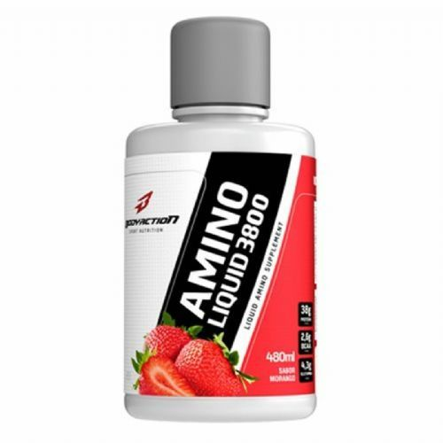 Amino Liquid 3800 - 480ml Morango - BodyAction no Atacado