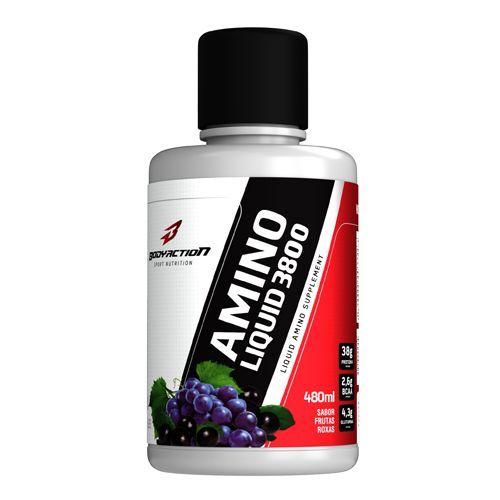 Amino Liquid 3800 - 480ml Frutas Roxas - BodyAction