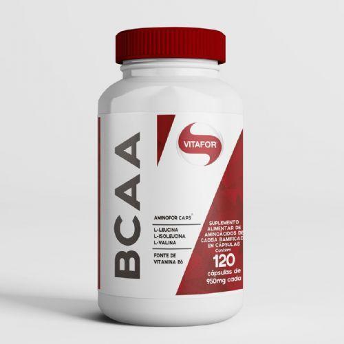 Aminofor BCAA - 120 Cápsulas  - Vitafor no Atacado