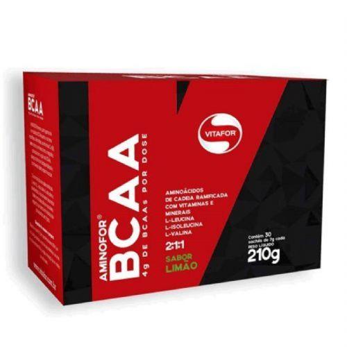Aminofor BCAA - 30 Sachês 7g Limão - Vitafor no Atacado