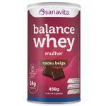 Balance Whey Mulher - 450g Cacau Belga - Sanavita