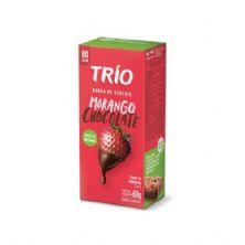 Barra de Cereal - C/ 12 unid - Morango c/ Chocolate - Trio Alimentos