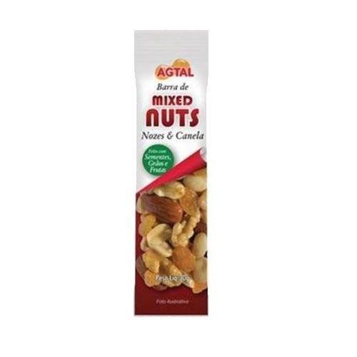 Barra de Cereal - Mixed Nuts Nozes e Canela 1 unidades - Agtal