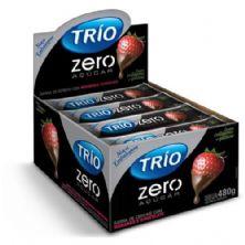 Barra de Cereal Trio Zero Açúcar - Morango com Chocolate com 24 barras de 20g - Trio Alimentos