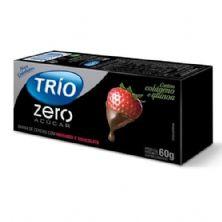 Barra de Cereal Trio Zero Açúcar - Morango com Chocolate com 3 barras de 20g - Trio Alimentos