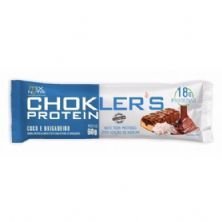 Barra de Proteína Choklers Protein - 1 Unidade 60g Coco e Brigadeiro - Mix Nutri