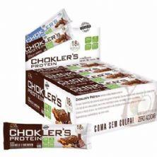 Barra de Proteína Choklers Protein - 12 unidades 60g Caramelo e Amendoim - Mix Nutri