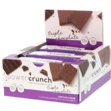 Barra de Proteina Power Crunch - 12 Unidades Triple Chocolate - BNRG
