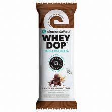 Barra Proteica WheyDop - 1 Unidade 40g Chocolate Maltado - ElementoPuro