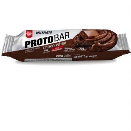 Barra Proto Bar - 1 Unidade de 70g Chocolate Meio Amargo com Nibs de Cacau - Nutrata no Atacado