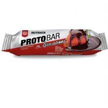Barra Proto Bar - 1 Unidade de 70g Chocolate Meio Amargo com Recheio de Morango - Nutrata*** Data Venc. 30/04/2020