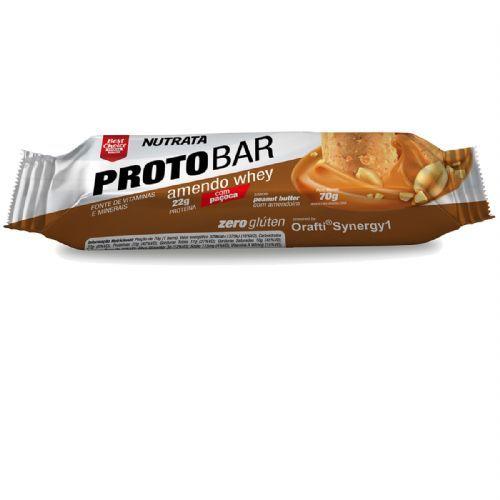 Barra Proto Bar - 1 Unidade de 70g Peanut Butter com Amendoim - Nutrata*** Data Venc. 30/08/2019